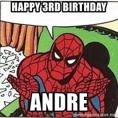 Question Spiderman - happy 3rd birthday andre