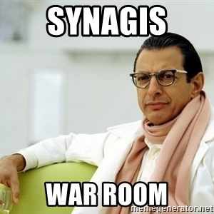 Jeff Goldblum - synagis  war room