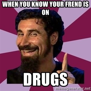 Serj Tankian - when you know your frend is on drugs