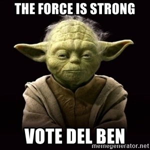 ProYodaAdvice - The force is strong Vote del ben