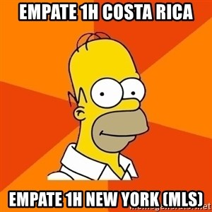 Homer Advice - empate 1h cOSTA RICA Empate 1h new york (mls)