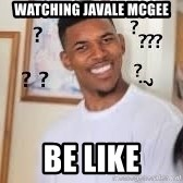 Hills like White elephants meme - watching Javale mcgee be like