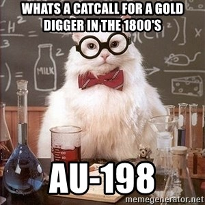 Science Cat - whats a catcall for a gold digger in the 1800's AU-198