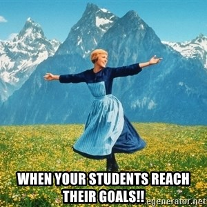 Julie Andrews Sound of Music meme football  - When your students reach their goals!!