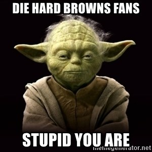ProYodaAdvice - Die hard Browns fans Stupid you are