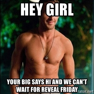 ryan gosling overr - Hey gIrl Your big says hi and we can't wait for reveal friday
