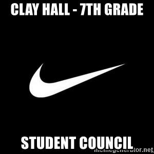 Nike swoosh - Clay hall - 7th grade student council