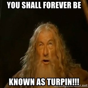 Gandalf You Shall Not Pass - You shall forever be Known as Turpin!!!