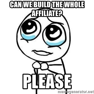 Please guy - Can we build the whole affiliate? please