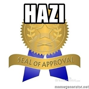 official seal of approval - hazi