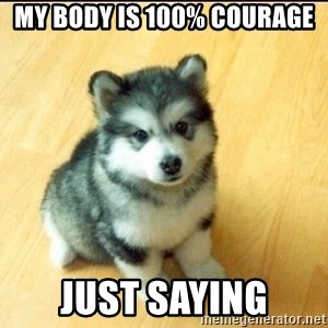 Baby Courage Wolf - my body is 100% courage just saying