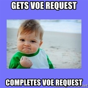 Baby fist - Gets voe request completes voe request