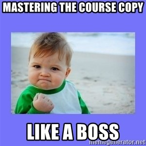 Baby fist - MAstering the Course copy Like a Boss