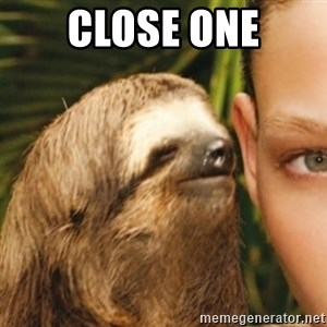 Whispering sloth - close one