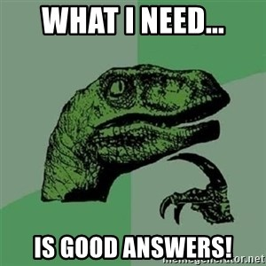 Velociraptor Xd - What I need... is good answers!