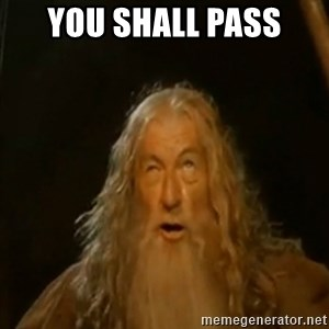 Gandalf You Shall Not Pass - YOU SHALL PASS