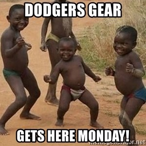 Dancing African Kid - Dodgers gear Gets here Monday!
