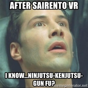 i know kung fu - after Sairento VR I KNOW...NINJUTSU-KENJUTSU-GUN FU?