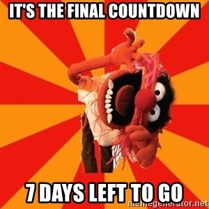Animal Muppet - It's the final Countdown 7 days left to go