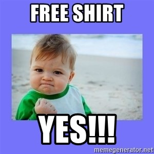 Baby fist - Free shirt Yes!!!