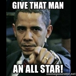 obama pointing - Give that man an all star!