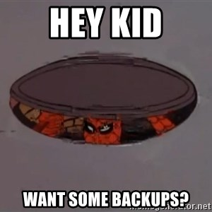 Spiderman in Sewer - Hey kid want some backups?