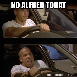 Vin Diesel Car - no alfred today