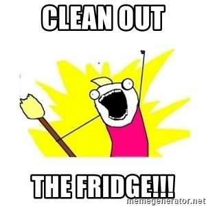 clean all the things blank template - clean out the fridge!!!