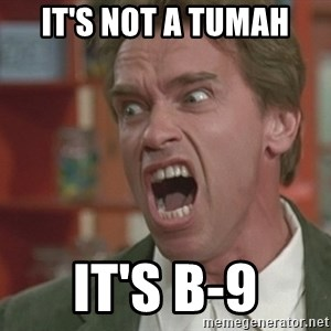 Arnold - it's not a tumah it's b-9