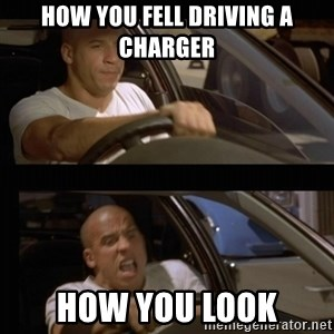 Vin Diesel Car - How You fell driving a charger how you look
