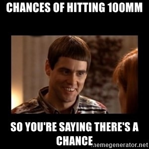Lloyd-So you're saying there's a chance! - chances of hitting 100mm so you're saying there's a chance