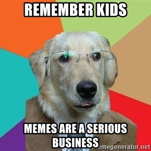 Business Dog - REMEMBER KIDS MEMES ARE A SERIOUS BUSINESS
