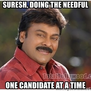Typical Indian guy - Suresh, doing the needful one candidate at a time