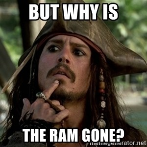 Capt Jack Sparrow - but why is the ram gone?