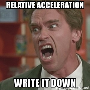 Arnold - relative acceleration write it down