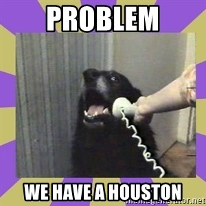 Yes, this is dog! - PROBLEM WE HAVE A HOUSTON