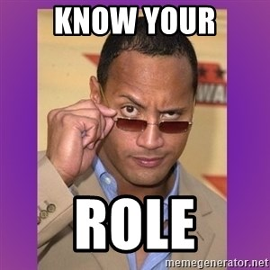 The Rock Cooking - Know your role