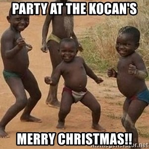 Dancing African Kid - Party at the kocan's Merry Christmas!!