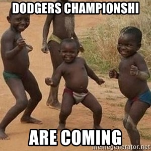 Dancing African Kid - Dodgers Championshi  Are coming