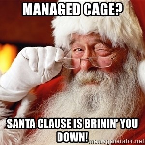 Capitalist Santa - Managed Cage? Santa Clause is Brinin' you down!