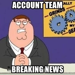 Grinds My Gears Peter Griffin - account team Breaking news