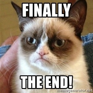 Grumpy Cat  - finally the end!