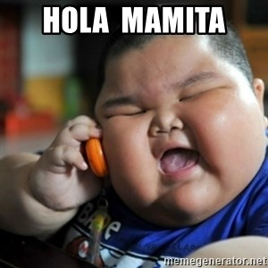 fat chinese kid - HOLA  MAMITA