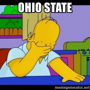 Homer Facepalm - Ohio State