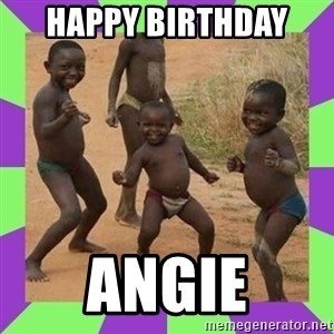 african kids dancing - Happy Birthday  Angie