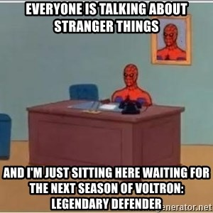 Spiderman Desk - everyone is talking about stranger things and i'm just sitting here waiting for the next season of voltron: legendary defender