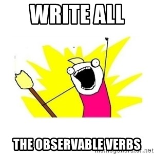 clean all the things blank template - write all  the observable verbs
