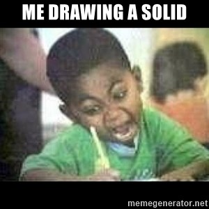 Black kid coloring - me drawing a solid