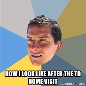Bear Grylls - how i look like after the td home visit