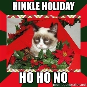 GRUMPY CAT ON CHRISTMAS - Hinkle holiday  ho ho no